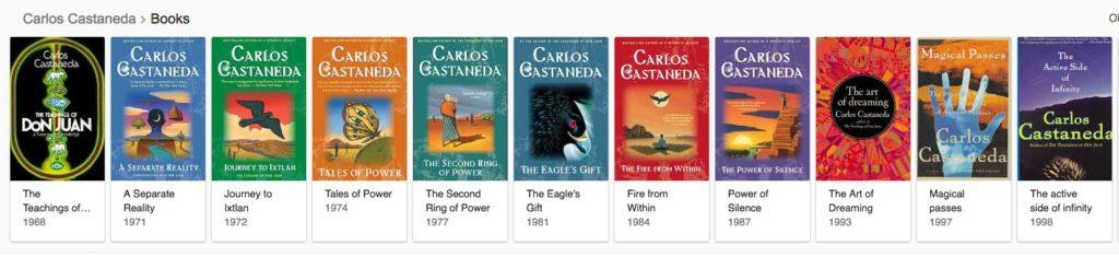 Carlos Castaneda - Bibliography (Visual)